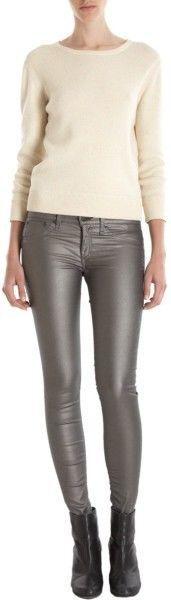 Rag & Bone Jeans Leggings Metallic Pewter - NWT - SIZE 28