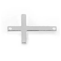 Sterling Silver Sideways Cross Pendant - $15.99