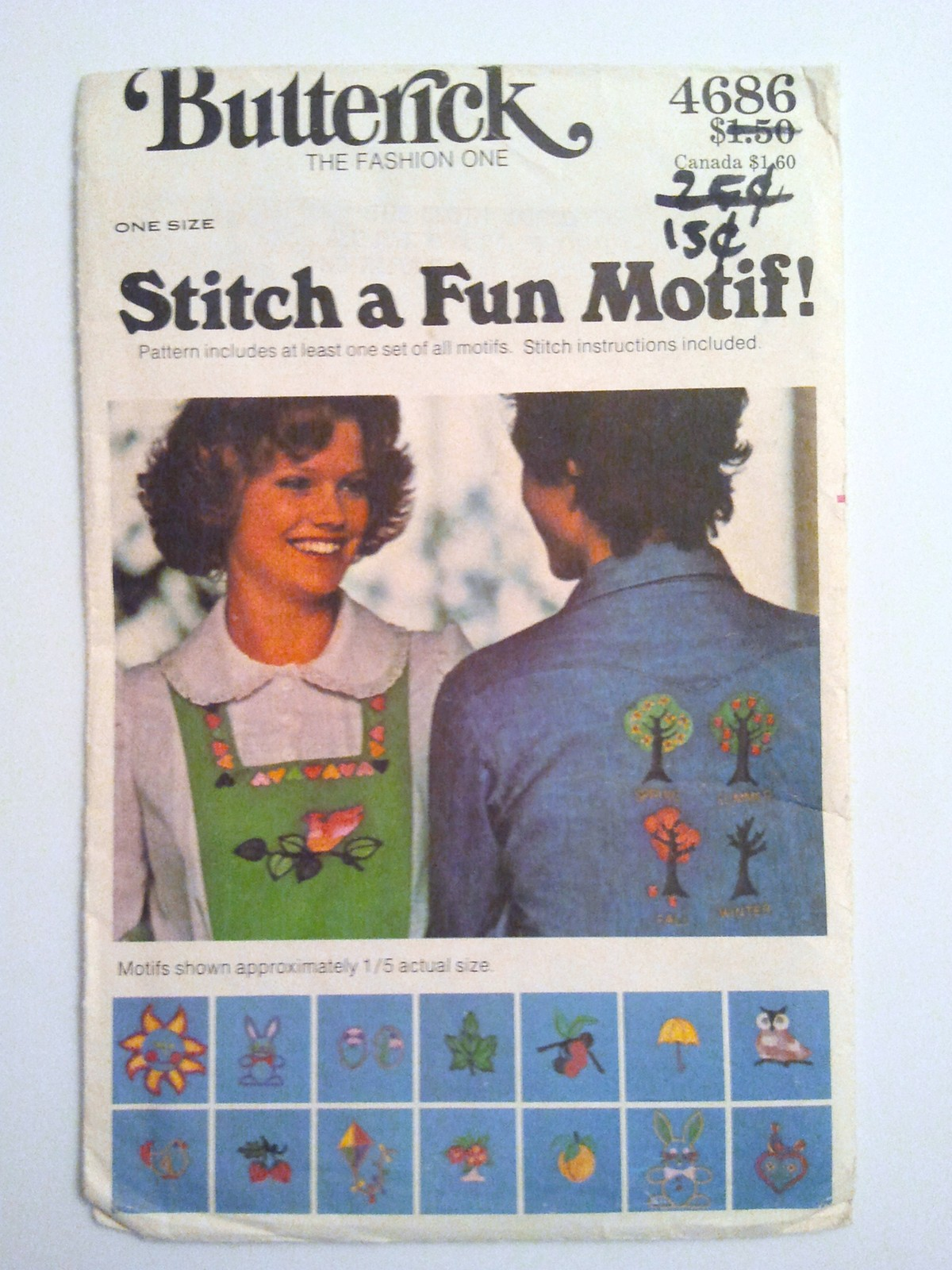 Butterick 4686, Embroidery Transfer Stitch a Fun Motif