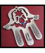 Beautiful metallic HAMSA with evil eye protection kaballah torah star of... - £12.49 GBP