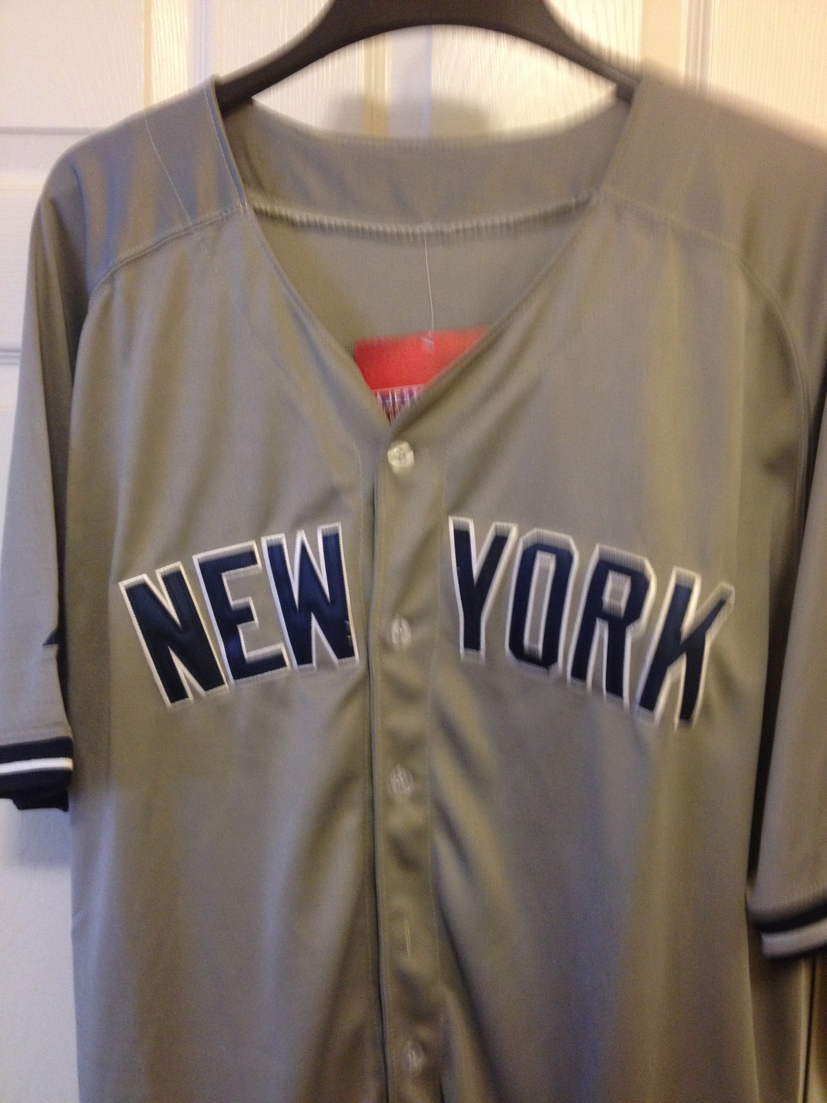 Derek Jeter Majestic Cool Base Grey Jersey