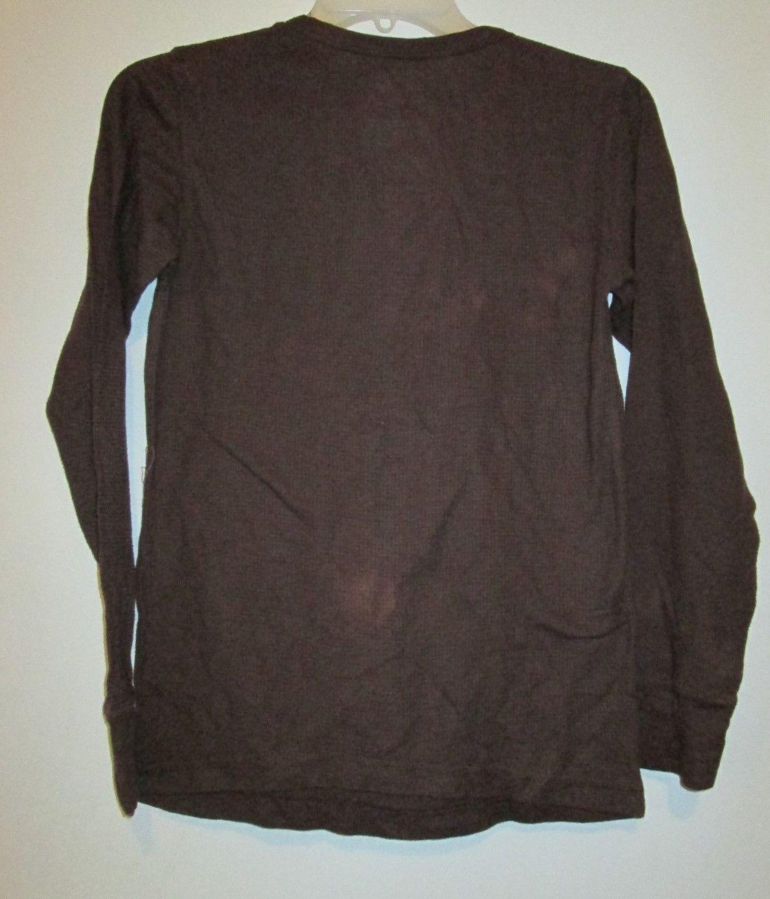 jimi hendrix rockstar retro brown long sleeve thermal tee shirt size medium 6 8