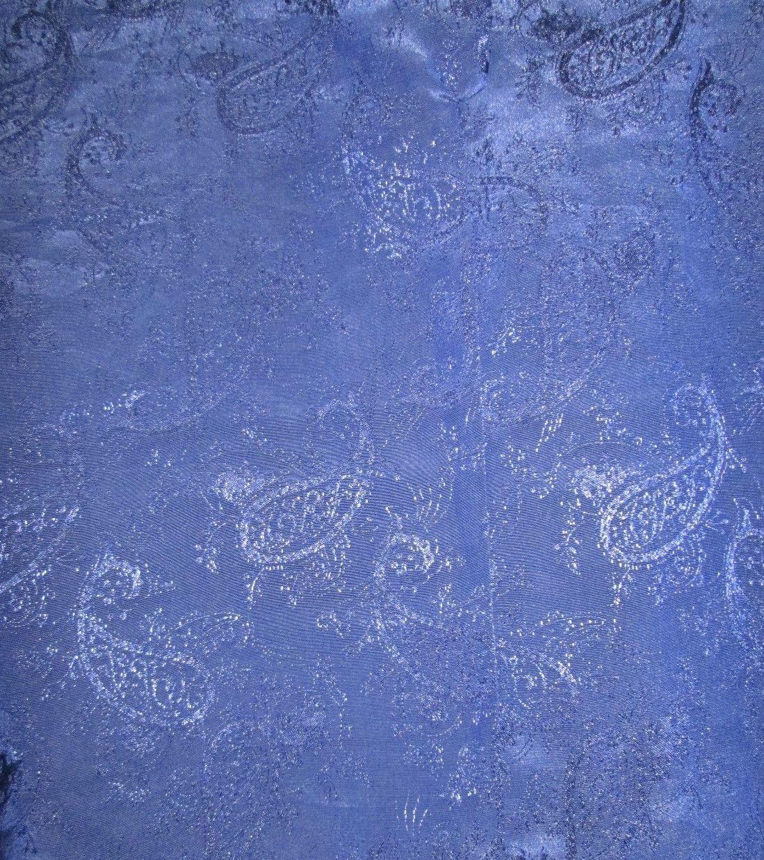 1980 vintage cobalt blue paisley jaquard strong shoulder shirt size medium large