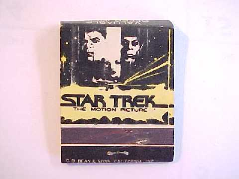 Star Trek the Motion Picture Matches Advertising Matchbook