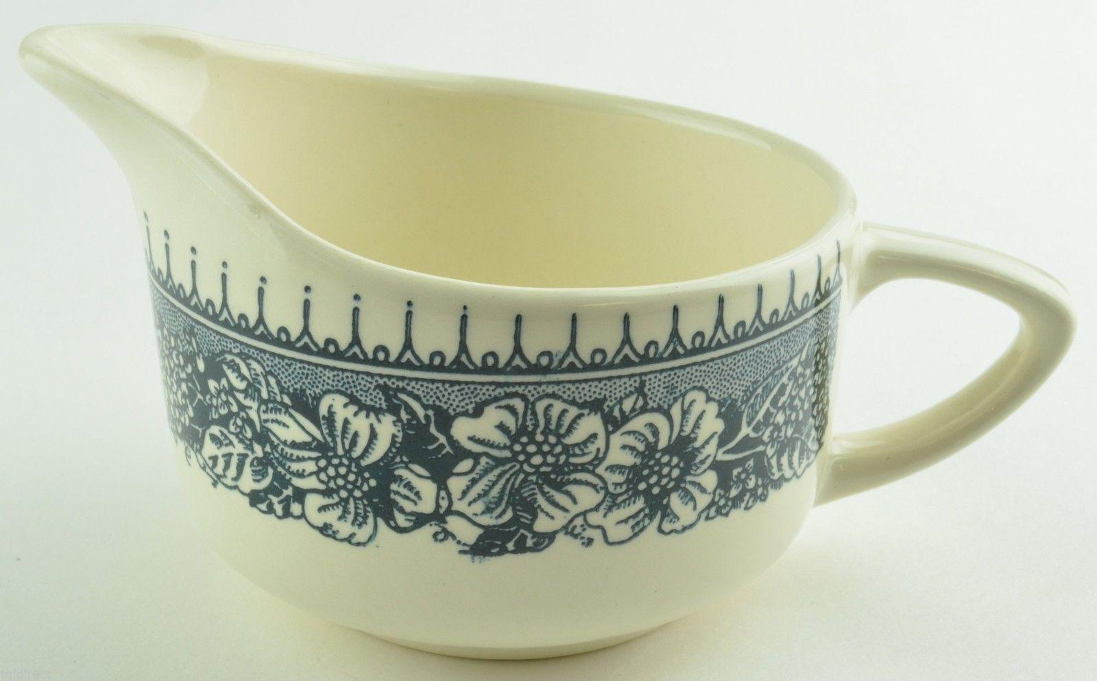 Royal China Colonial Heritage Blue Pattern Creamer USA Stoneware Tableware