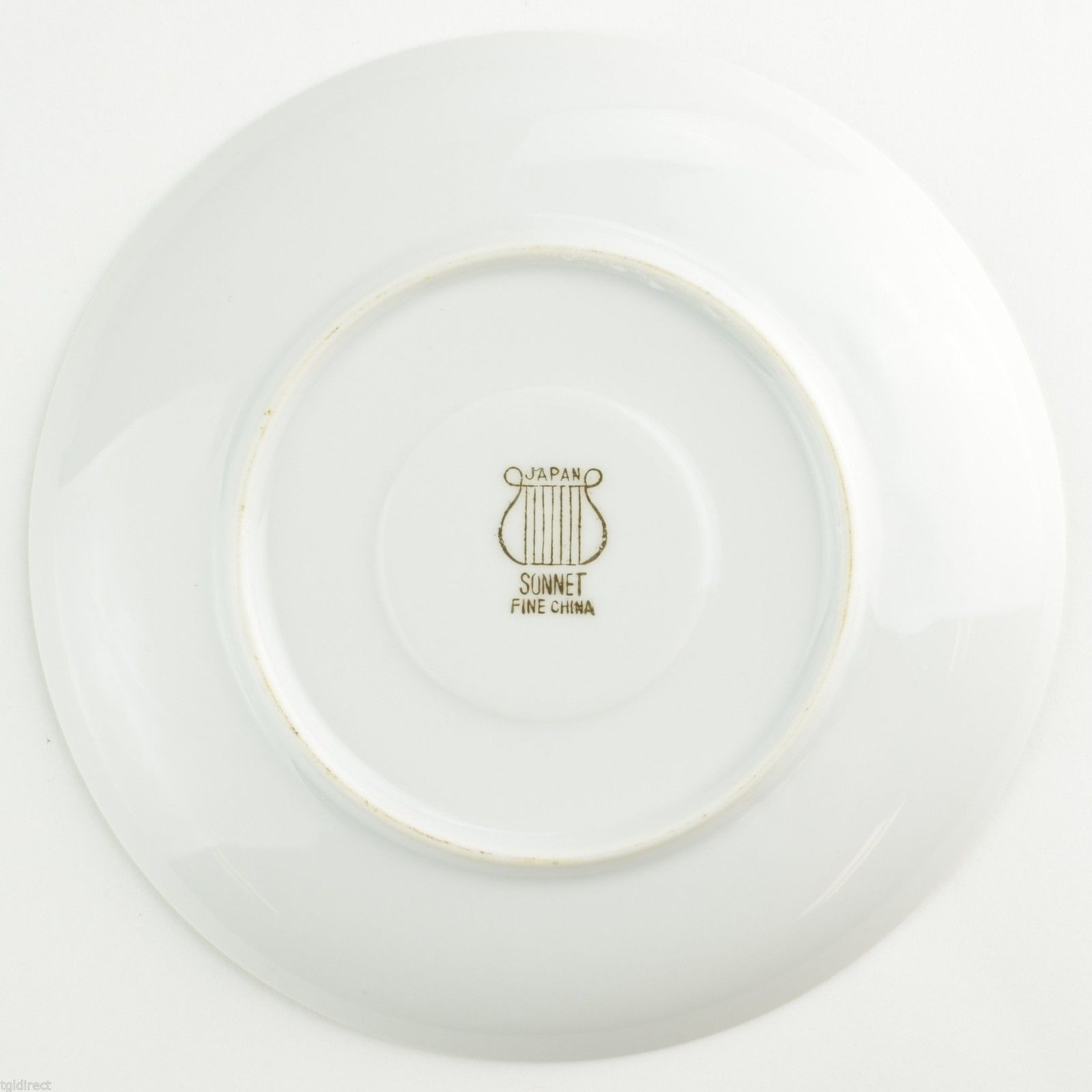 Fine China Of Japan Sonnet Pattern Flat Cup Saucer Tableware Dinnerware Gold
