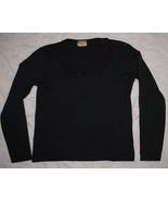 WRANGLER Black STRETCH long sleeve  Top w/ Embellishments  sz. M  EUC - $4.99
