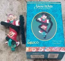 "Enesco ""Merry Little Two-Step"" SNOW WHITE & THE SEVEN DWARFS Christmas o... - $10.77"