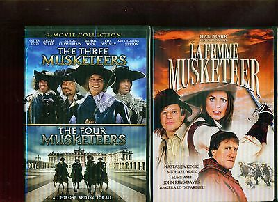 THREE MUSKETEERS 1-2-3: Four & La Femme Musketeer Michael York NEW 2 DVD