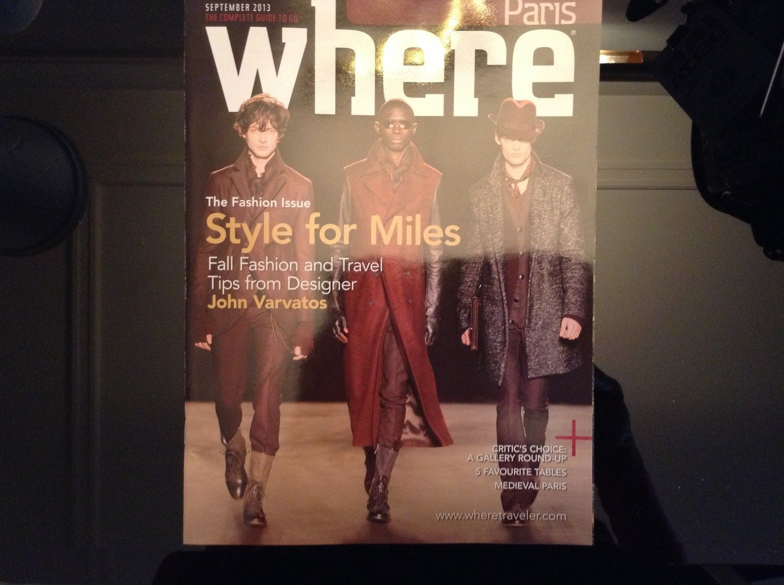 WHERE MAGAZINE PARIS FRANCE SEPTEMBER 2013 in English Style For Miles