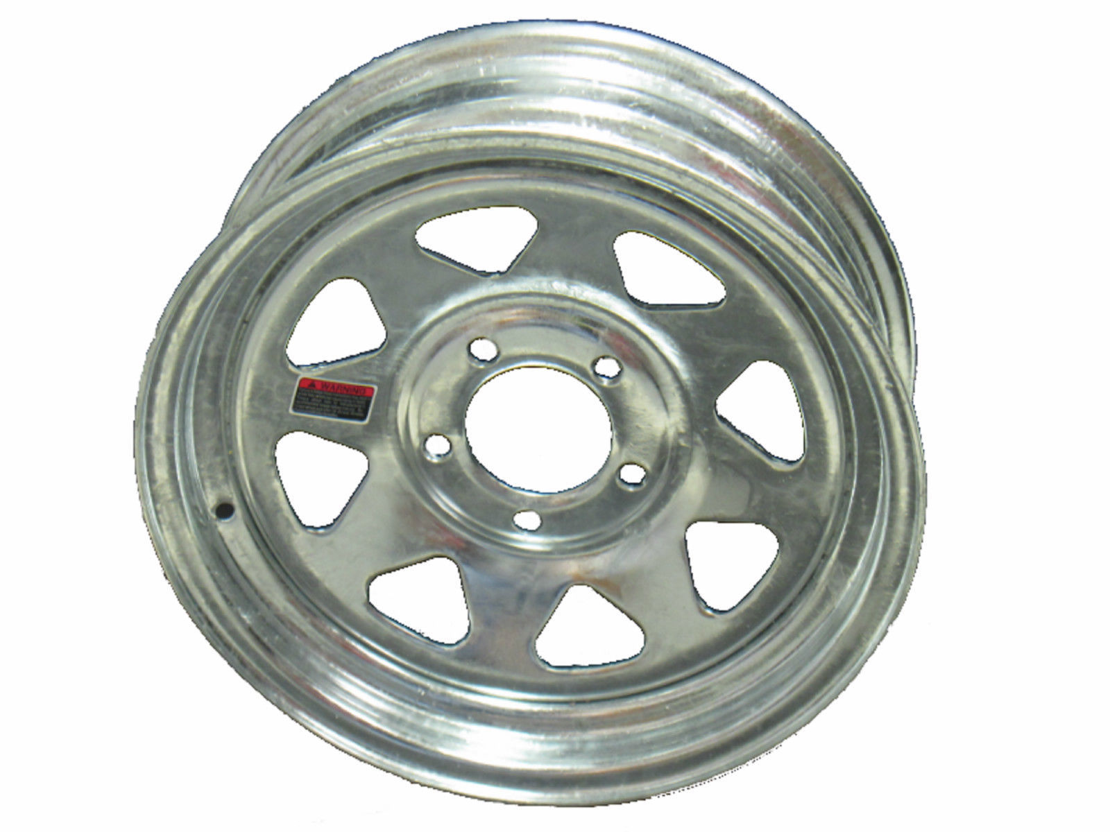 "15"" 5 Lug Galvanized Spoke Steel Trailer Wheel Camper RV Boat Utility Wheel"