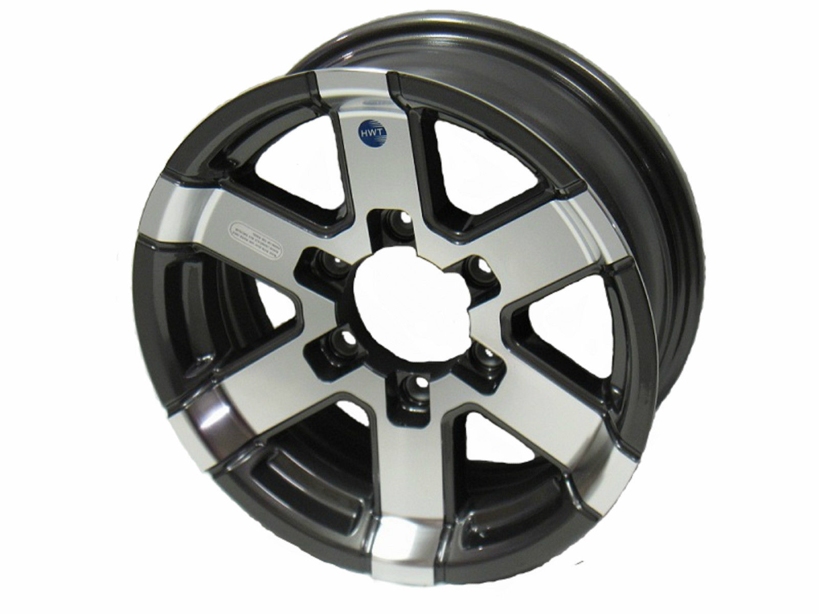 "15"" 6 Lug Series 07 Gunmetal Hispec Aluminum trailer Wheel camper rv utility"
