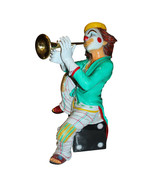 """Colorful Clown Playing Instrument Bronze Statue -  Size: 18""""L x 13""""W x 3... - $1,365.00"""