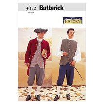 Butterick Patterns B3072 Historical Costume (Coat, Vest, Shirt, Pants an... - $14.70
