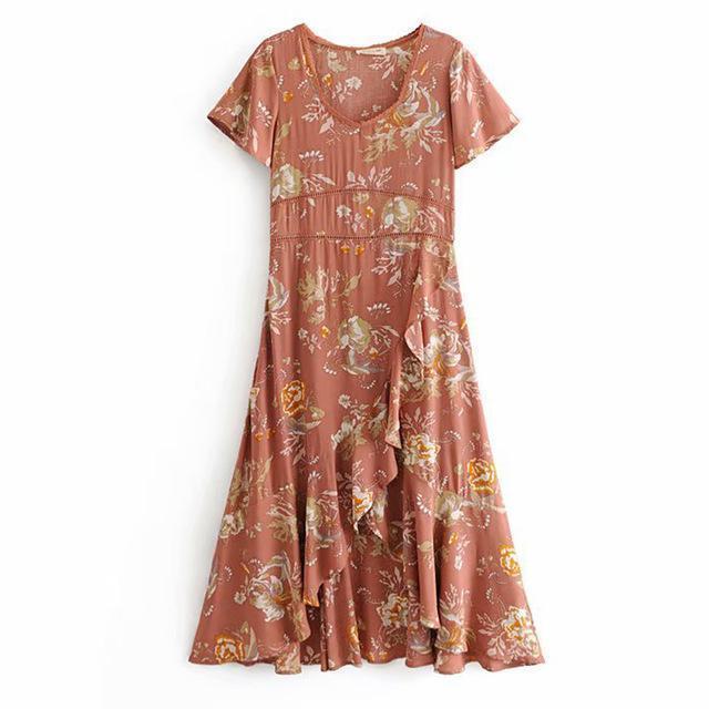 Boho Chic V-Neck Flutter Sleeve Dress image 3