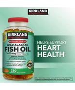 Kirkland Wild Alaskan Fish Oil 1400 mg 230 Softgels Omega-3 DHA BRAND NEW - $29.99