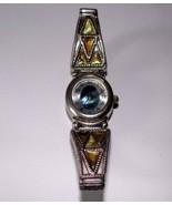 LA Express Blue oval face watch, quartz, vintage 1980s, Ladies, needs ba... - $10.50