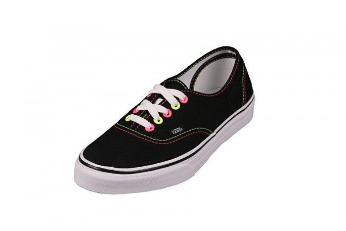59d4b293c1e Vans Authentic Neon Black Pink Yellow Shoes and 13 similar items