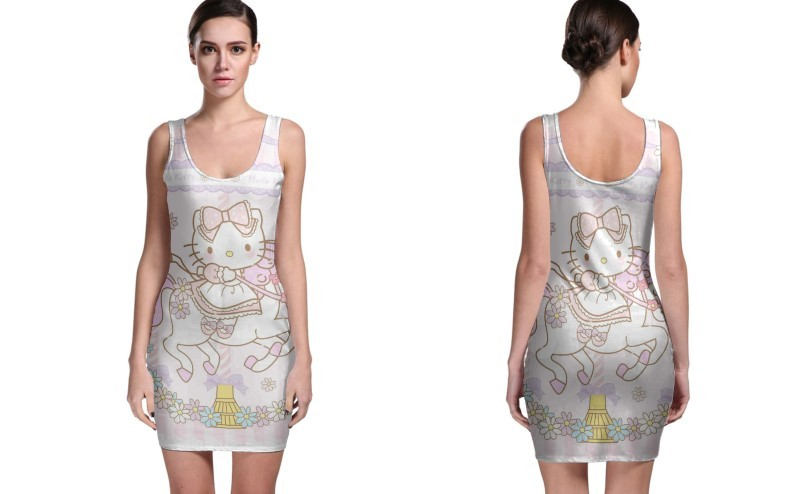 Primary image for Unicorn Hello Kitty BODYCON DRESS FOR WOMEN