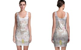 Unicorn Hello Kitty BODYCON DRESS FOR WOMEN - $22.99+