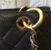 AUTHENTIC CHANEL QUILTED CAVIAR GST GRAND SHOPPING TOTE BAG BLACK GHW image 5