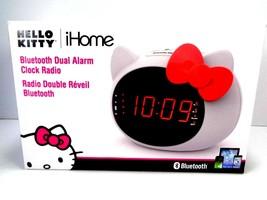 iHome Hello Kitty Bluetooth Dual Alarm Clock Radio Speaker Si-B62.FX Sanrio - $26.72