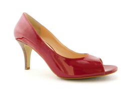 New COLE HAAN Size 9.5 Red Patent Open Toe Heels Pumps Shoes 9 1/2 N. Air - $79.00