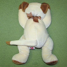 VINTAGE TY MEOW CAT PILLOW PETS SIAMESE KITTEN 1996 STUFFED ANIMAL TAN IVORY TOY image 3