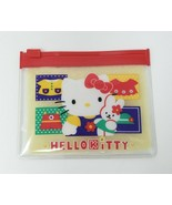 VINTAGE 1997 SANRIO SMILES HELLO KITTY ZIP COIN POUCH CLEAR CASE STATIONARY - $23.38