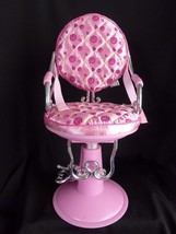 """Beauty Salon shop Chair Battat fits 18"""" American Girl doll our generation Pink - $32.29"""