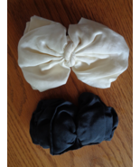Womens Large Bow Barrette Hair Clip Made in France Black & White Silk Lo... - $54.99