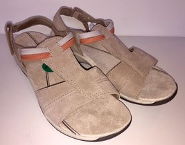 Easy Spirit 3089 Women's Sumana Suede Sport Flat Sandal Natural Black Retail $79 - $44.95