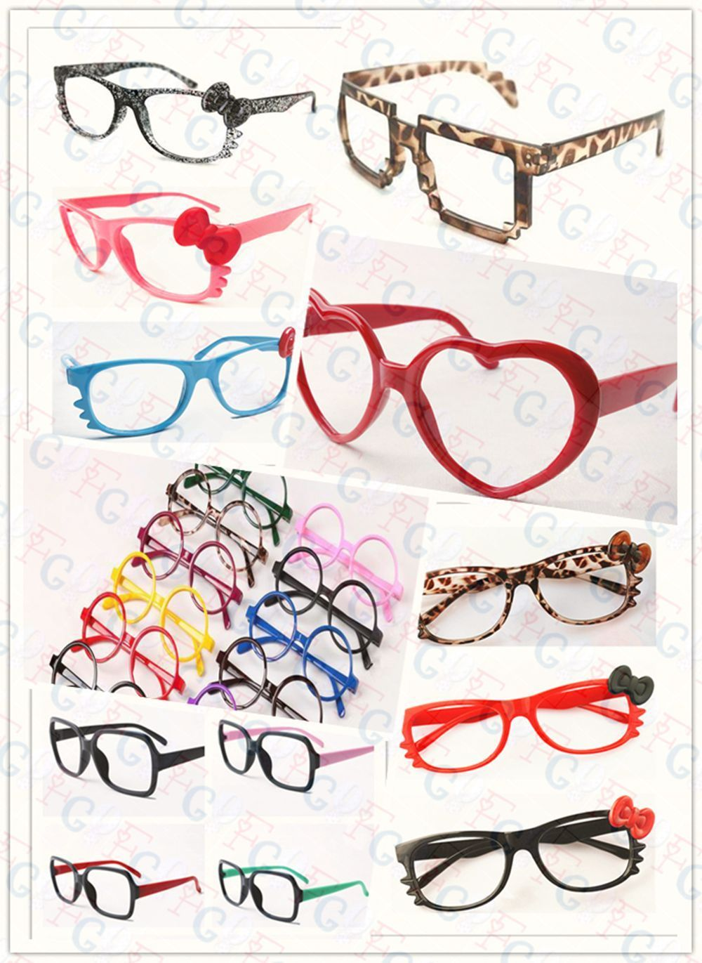 Cute Fashion Retro Nerd Style Glass Frame Cosplay Costume Lovely Vintage Eyewear