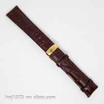 New brown leather strap Watchband for Tissot Visodate T019430 20mm golde... - $38.61