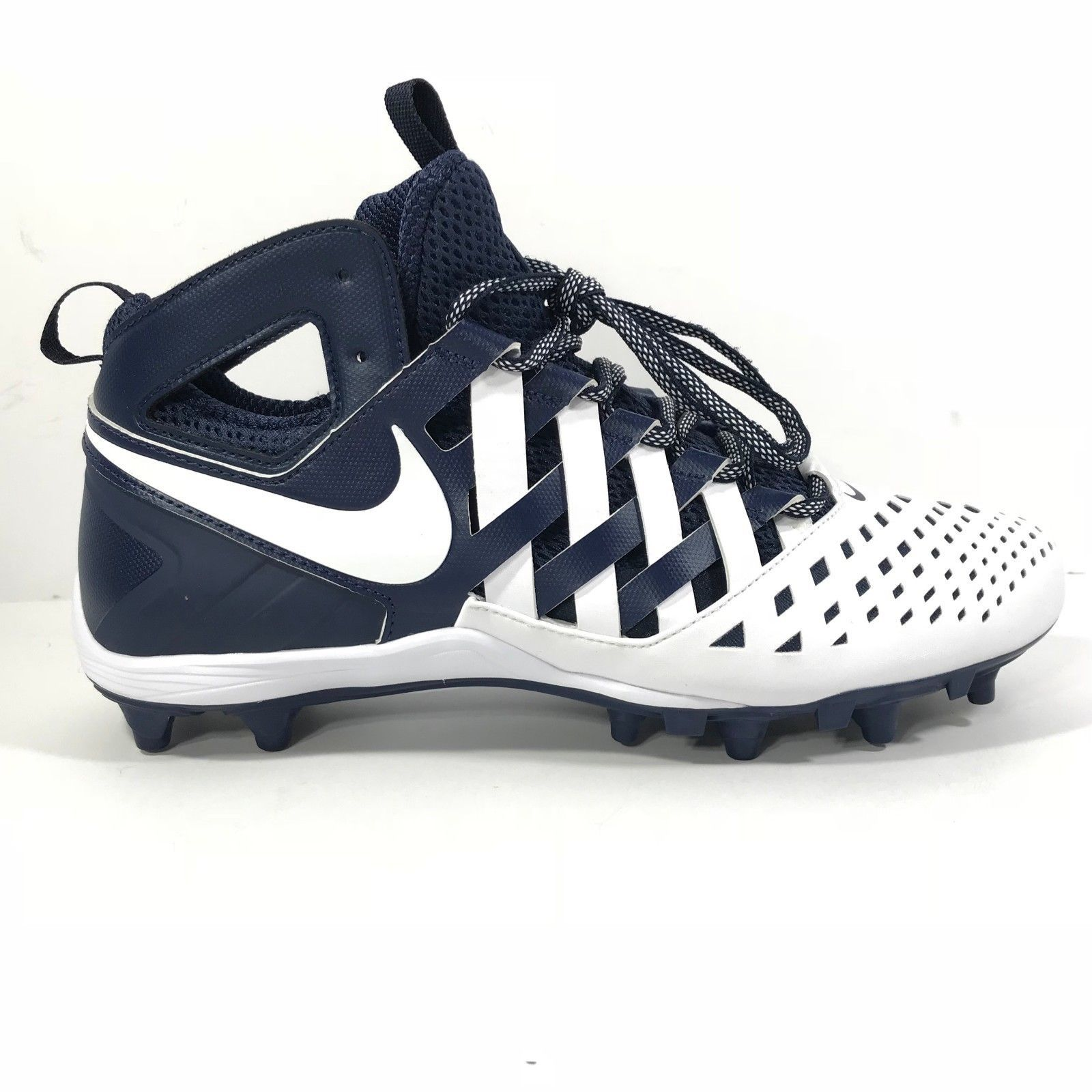 official photos 53ab1 e04b0 Nike Huarache V 5 LAX Lacrosse TD Football Cleats Navy White 807142-410 sz