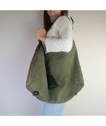 Louis Vuitton Dark Olive Monogram Antheia Leather Hobo GM Bag - $899.00