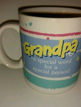 Vintage 1985 Hallmark Smiley Face Coffee Mugs Grandpa is a Special Perso... - $22.76