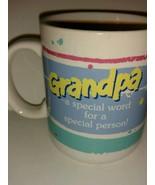 Vintage 1985 Hallmark Smiley Face Coffee Mugs Grandpa is a Special Perso... - $22.76