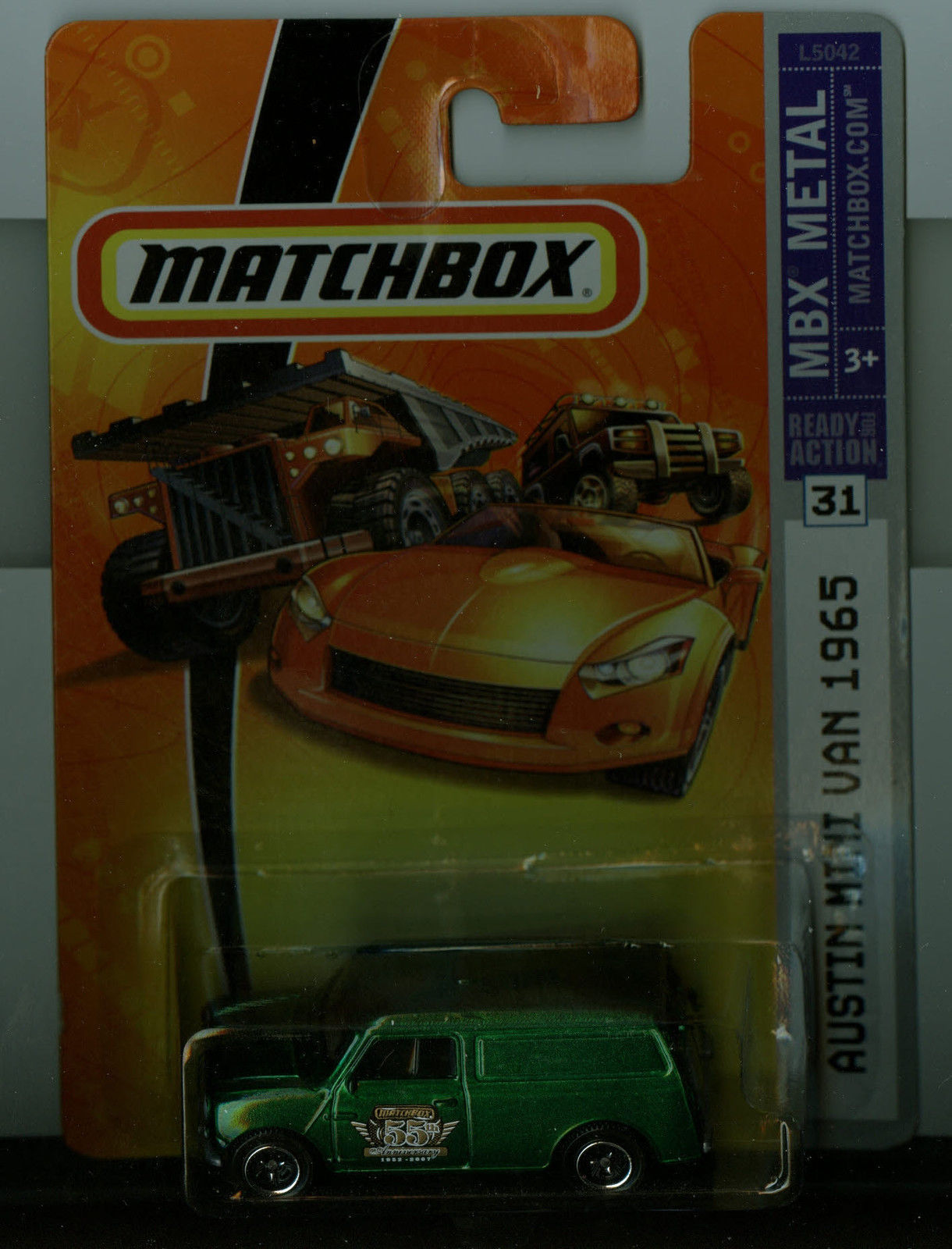 Matchbox 2007 MBX Metal #31 Austin Mini Van Green Limited 55 Anniversary Edition