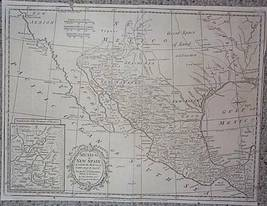 1790's copperplate antique map of southern North America - $155.00