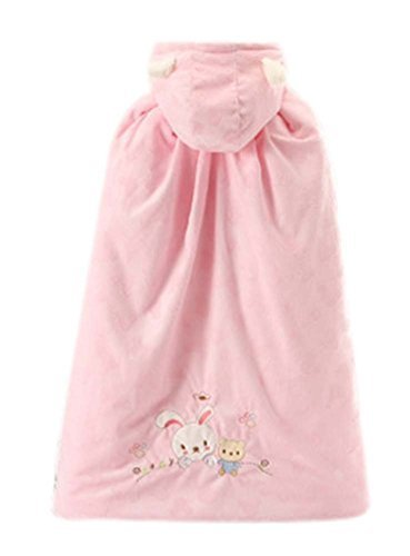 Baby Cloak Fall Winter Funds Thick Warm Cotton Shawl Rabbit Pattern Pink