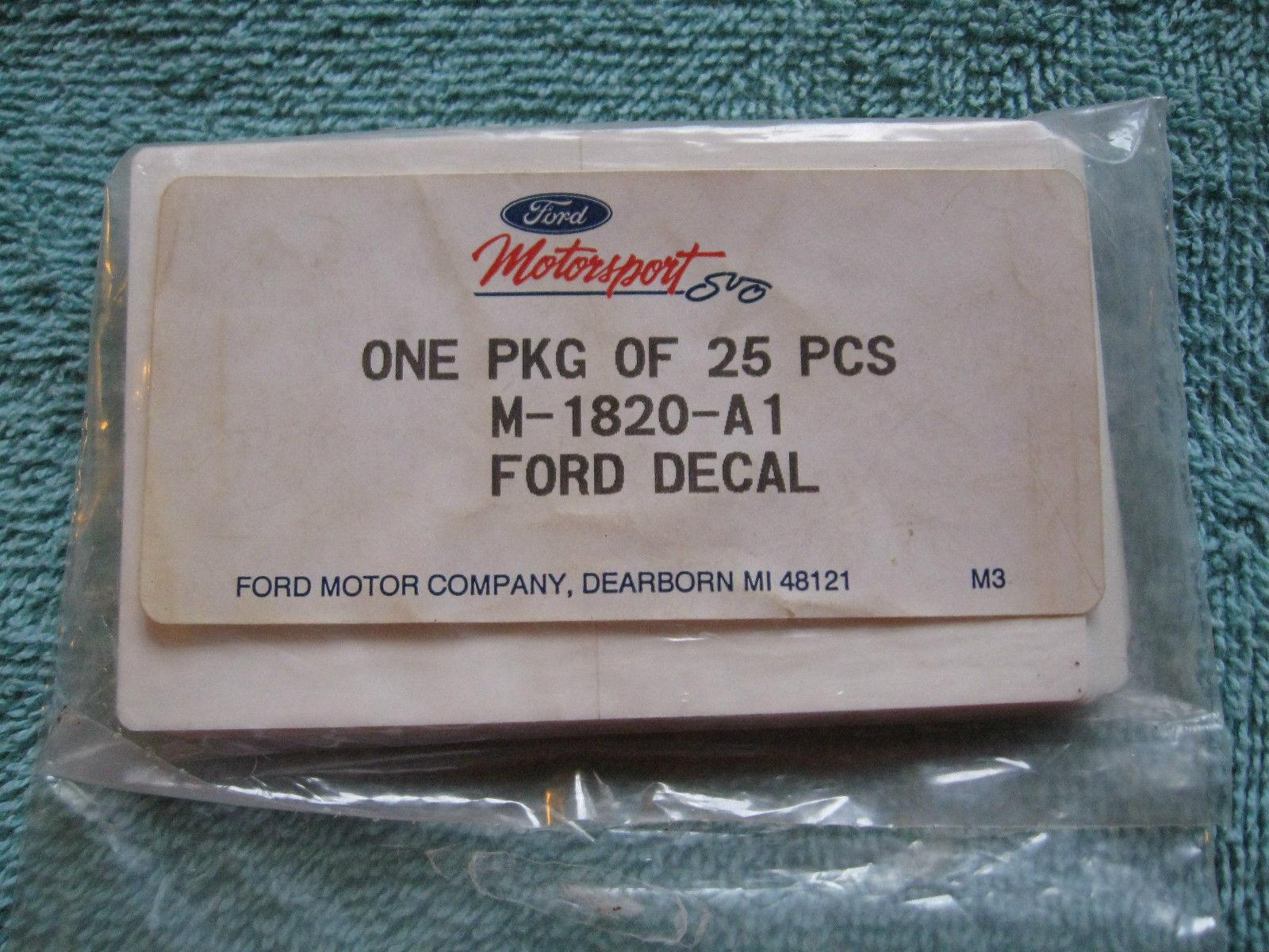 Ford Motorsport SVO - Vintage NOS Decals!!!