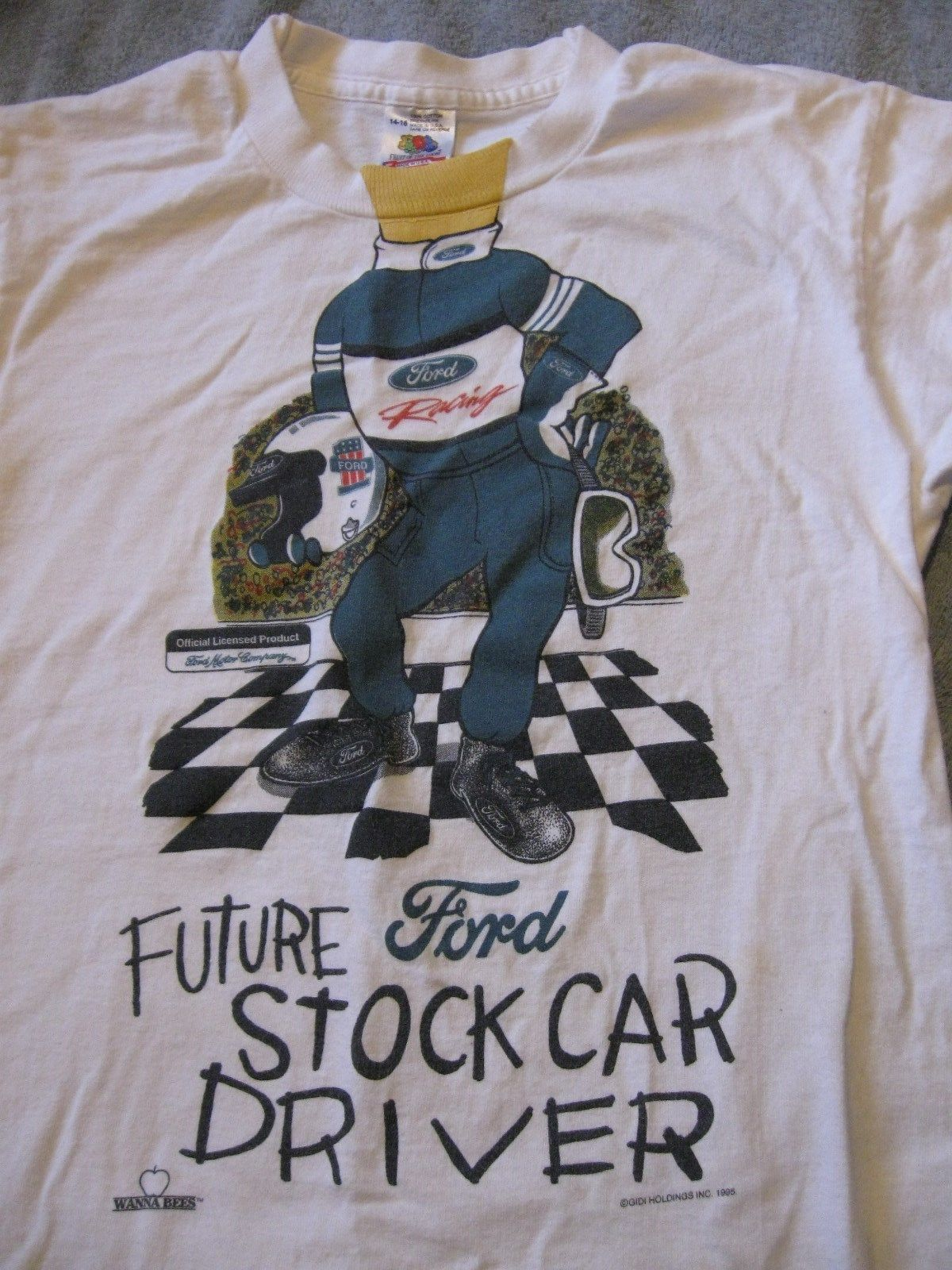 """Ford Racing-""""Future Ford Stock Car Driver""""-Child's T-Shirt Size 14-16!!!"""