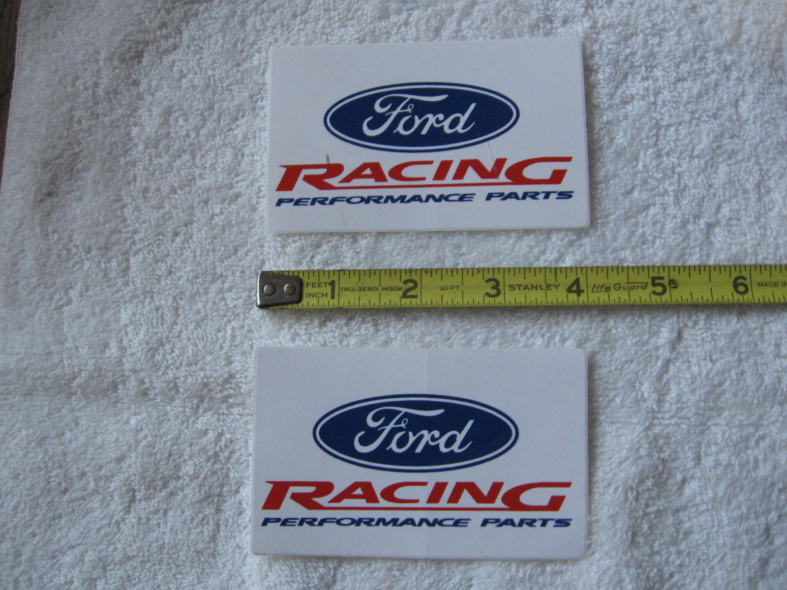 FORD RACING-NOS DECALS-AUTOMOTIVE COLLECTIBLE-DISPLAY-RESTORATION!!!