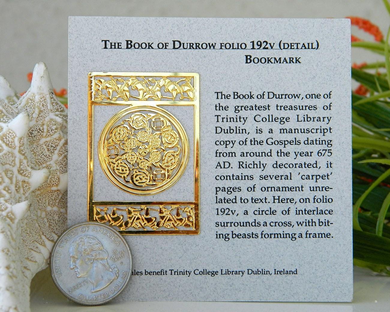 Book of Durrow Bookmark Carpet Page Trinity College Ireland