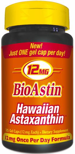 BIOASTIN HAWAIIAN ASTAXANTHIN NUTREX HAWAII 12 MG 25 GEL CAPS