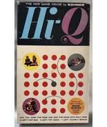 Hi-Q Classic Peg Game Puzzle With Bonus Brain Buster Puzzle Kohner Vinta... - $9.13