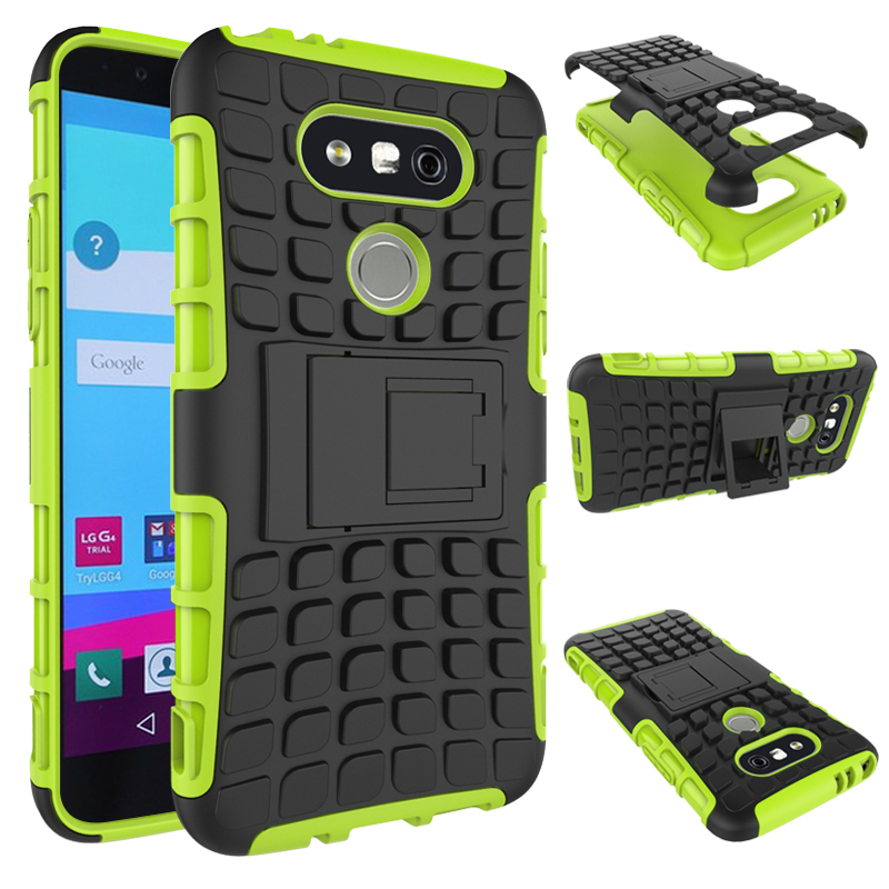Kproof rugged dual layer hybrid built in kickstand case cover for lg g5 green p20160303142132987
