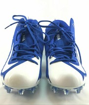 Mens Nike Alpha Menace Pro Football Cleats Royal Blue White 866012-409 S... - $41.07