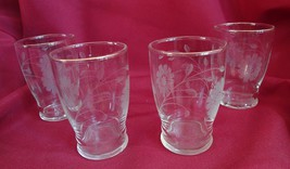 Set of 4 Glasses with Daisy Pattern Tableware - $1.99